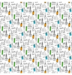 Doodles seamless pattern vector image vector image