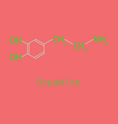 Dopamine icon vector