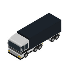 Freight truck isometric icon vector