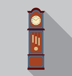 Grandfather Pendulum Clock vector image