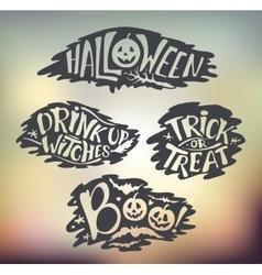 Happy halloween calligraphy backgrounds vector