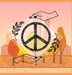 International peace day autumn vector