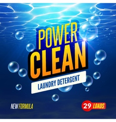 Laundry Detergent packaging template design vector image