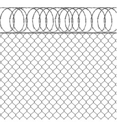 metal fence vector image
