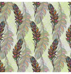 Multicolor feather isolate With white background vector image vector image