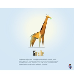 polygonal of giraffe safari wild animal icon vector image