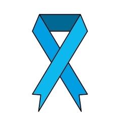Ribbon banner commemorates blue design icon vector