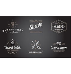 Set of barber shop elements and shave shop icons vector