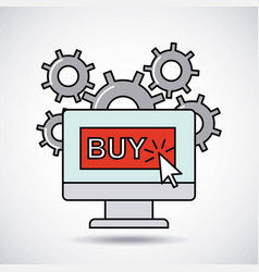 Social media marketing business vector