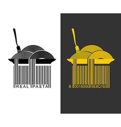 Spaghetti bar code ean-13 barcode pasta creative vector