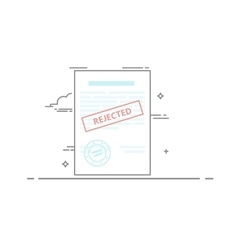 The concept of rejection of the document made in a vector image vector image