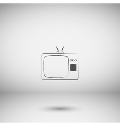 TV icon Flat design style vector image vector image