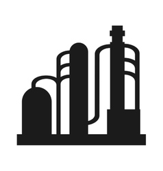 Oil refinery pipeline bridge icon vector