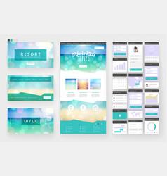Tropical summer web design template vector
