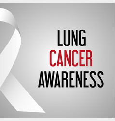 World lung cancer day awareness poster eps10 vector