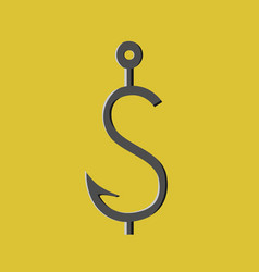 Angle shaped as dollar vector