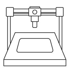 3d printer icon outline vector