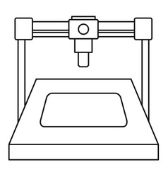 3d printer icon outline vector image vector image