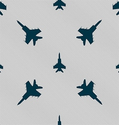 Fighter icon sign seamless pattern with geometric vector