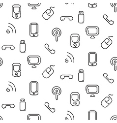 Electronics and mobile seamless pattern vector