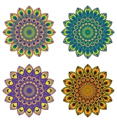 Set oa four mandalas vector