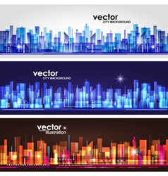 Abstract cityscape background banners vector image