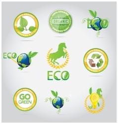 abstract nature symbols and emblems set vector image