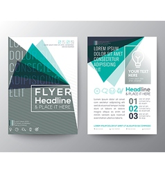 Abstract Triangle shape Poster Brochure Flyer vector image
