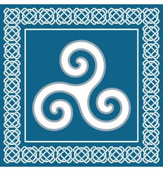 Ancient symbol triskeliontraditional celtic desig vector