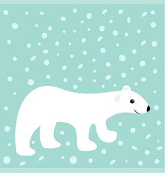 arctic polar white bear cub cute cartoon baby vector image vector image