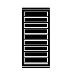 Black icon server cartoon vector