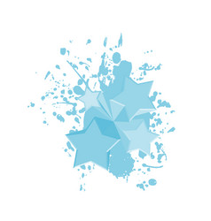 blue art paint stars vector image vector image