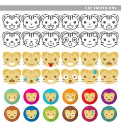 Cat emoticons vector image