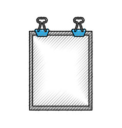 Clipboard paper isolated icon vector