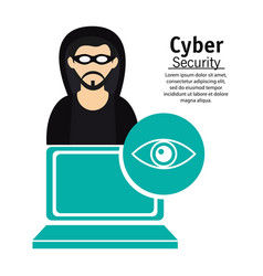 Cyber secuirty computer technology hacker vector