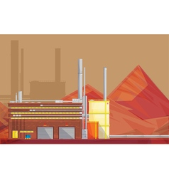 Eco waste disposal industry flat poster vector