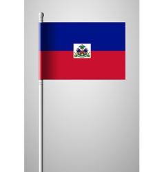 Flag of haiti national flag on flagpole vector
