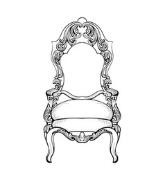 Imperial baroque chair with luxurious ornaments vector