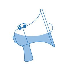 Kawaii megaphone announce audio volume voice vector