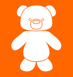 Little bear white icon vector