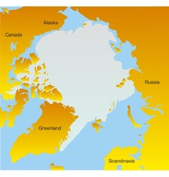 map of North pole vector image
