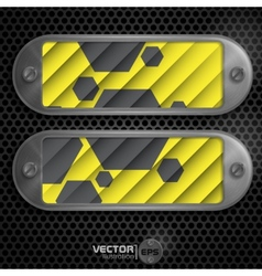 Metallic Frame With Screws vector image vector image