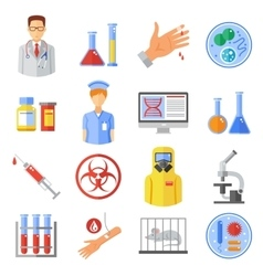 Microbiology icons set vector