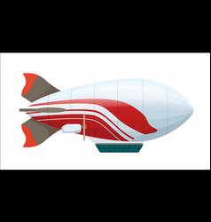 Modern zeppelin isolated icon vector