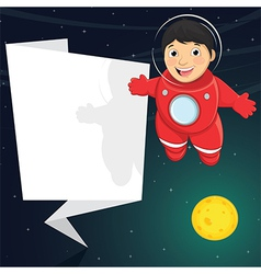 Of A Cute Astronaut With Origa vector image vector image