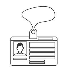 Personal identification card icon vector
