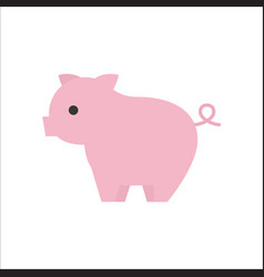 pig icon side view flat design vector image