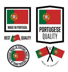 portugal quality label set for goods vector image
