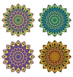 Set oa four mandalas vector image