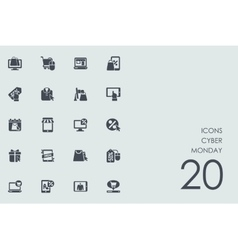 Set of Cyber Monday icons vector image
